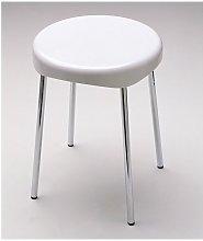 Sgabello abs bianco con 4 gambe cromo serie bagno