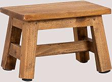 Sgabello basso in legno Abet Marrone Legno