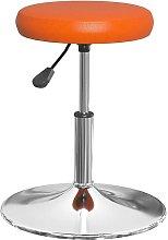 Sgabello da Bar Arancione in Similpelle -