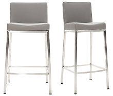 Sgabello design 66cm grigio - set di 2 EPSILON