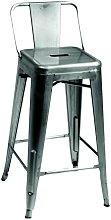 Sgabello ferro BRISTOL galvanizzato basso con