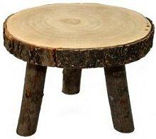 Sgabello legno basso