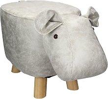 Sgabello per bambini a forma di ippopotamo pouf in