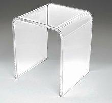 Sgabello Plexiglass design per doccia e bagno