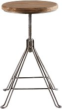 Sgabello regolabile con gambe in metallo