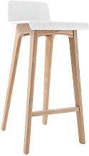 Sgabello / sedia da bar design legno naturale e