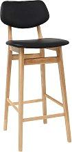 Sgabello / sedia da bar design nero e legno