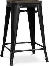 Sgabello Tolix 60 cm in legno Pauchard Style -
