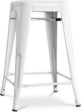 Sgabello Tolix 60cm Pauchard Style - Metallo Bianco