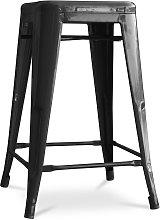 Sgabello Tolix 60cm Pauchard Style - Metallo Nero