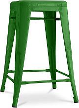 Sgabello Tolix 60cm Pauchard Style - Metallo Verde