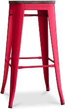 Sgabello Tolix in Legno 76cm Pauchard Style -