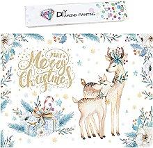 SHANFAA Kit per pittura con diamanti di Natale per