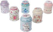 Shinan, scatola di latta con sigillo floreale per