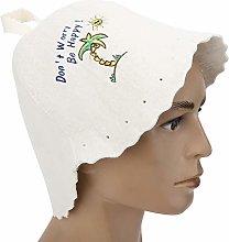 Shipenophy Cappello da Sauna in Feltro di Lana,