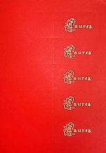 shopcr 20 BIGLIETTINI per Laurea Color Rosso,