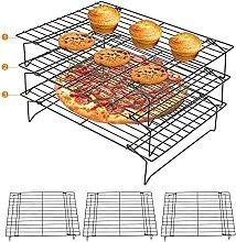 Shoplifemore 3 ripiani cottura in acciaio inox