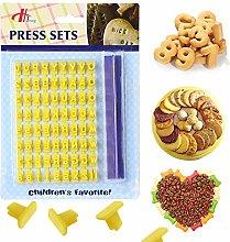 Shruj - Stampo per biscotti fai da te, con numero