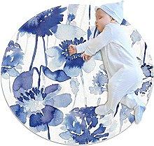 SHUAIGUO Tappeto circolare lavabile tappeto