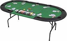 SHUJUNKAIN Tavolo da Poker Piegabile in 3 per 9
