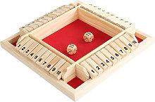 Shut The Box Gioco di dadi 2-4 giocatori Classico
