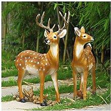 Sika cervo animale scultura giardino