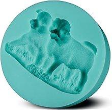 Silicone Cake Stampo Dogs Fondente Cake Decorating
