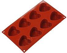Silikomart Teglia per 8 muffin a forma di cuore,
