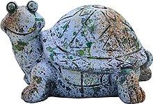 Simpatica statua da giardino con tartarughe,