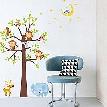 simpatiche civette scimmia elefante adesivi murali