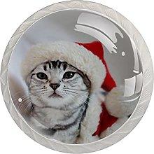 Simpatico cappello di Natale con gatto (4 pezzi) 4