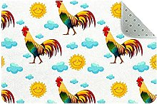 Simpatico gallo, tappeto da cucina, tappetino
