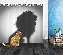 Simpatico gatto ombra leone che fissa Stampa HD,