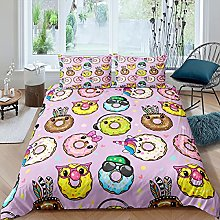 Simpatico set di biancheria da letto con motivo a
