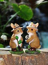 Simulazione animale coniglio ornamenti giardino