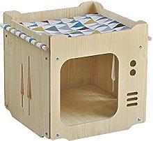 Siqi Cuccia per gatti in legno Nascondiglio per
