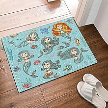 Sirena di decorazione animale Tappeto da bagno