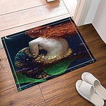 Sirena lunga seduta Tappetino da bagno antiscivolo