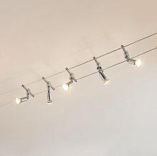 Sistema di illuminazione a funi Rope 5 faretti LED