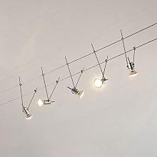 Sistema di illuminazione LED a funi Marno a 5 luci
