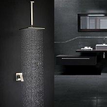 Sistema doccia in ottone e nichel spazzolato con