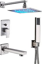 Sistema doccia nichel spazzolato, soffione doccia