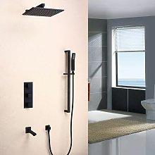 Sistema doccia termostatico a parete in ottone