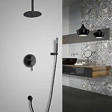 Sistema doccia termostatico in ottone massiccio
