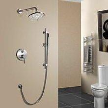 Sistema doccia termostatico rotondo doppia