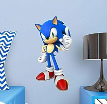 SJXWOL Cartoon Decal Adesivo murale Sonic Adesivo