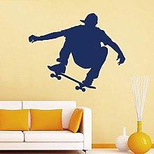 Skateboard Adesivo Murale Sport Vinile Adesivo