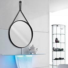 Skin - specchio da bagno rotondo ø 60 con cornice