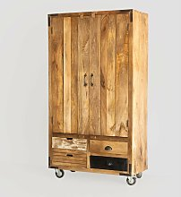 SKLUM Mobile bar in legno Kiefer Black&Natural