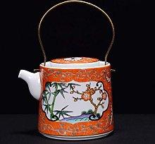 Smalto Teiera Crema Ceramica Antica Smalto Teiera